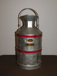 Vintage 23 The Texas Co Clark Can Co Phil 5 Gallon Metal Oil Jug Repainted