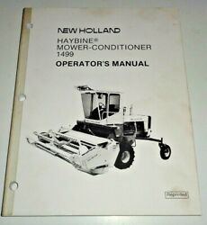 New Holland 1499 Haybine Mower Conditioner Operators Owners Manual Oem Nh 12/87