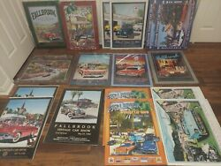 Fallbrook Car Show Posters 16 Posters With Original Wrap Vintage Car Posters