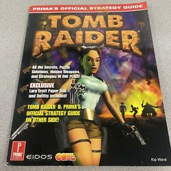 Tomb Raider I And Ii Prima Official Strategy Guide Kip Ward W/paper Dolls Intac