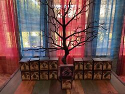 17 Horrornaments Black Tree And Lights