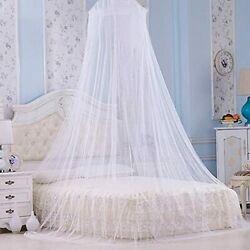Faswin Bed Canopy For Single To King Size Beds, Home And Travel White