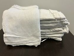 2500 Pieces New White Industrial Shop Rags Cleaning Towels