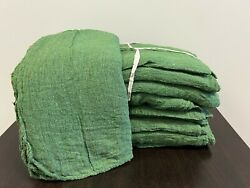 2500 Pieces New Green Industrial Shop Rags Cleaning Towels