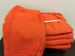 2500 Pieces New Orange Industrial Shop Rags Cleaning Towels