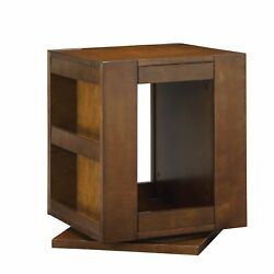 Acme Phoebe Swivel End Table In Espresso Brown