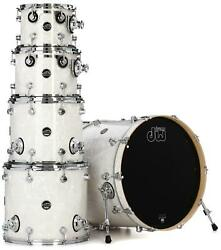 Dw Performance Series 5-piece Shell Pack With 22 Bass Drum - White Marine