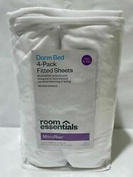 Room Essentials Dorm Bed 4 Pack Fitted Sheets Twin Twin XL Blush Microfiber