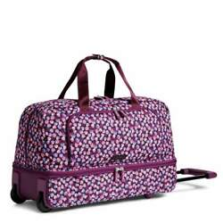 Vera Bradley Large Duffel Wheeled Travel Berry Burst Check In Bag New With Tag