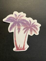 Palm Trees Sticker Hawaii Island Decal For Hydroflask Laptop Skate