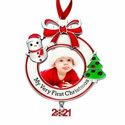 Babyand039s First Christmas Photo Ornament 202my Very First Christmas Photo Frame 1