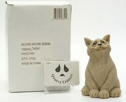 Quarry Critters Chico Smiling Cat - Second Nature Design New In Box
