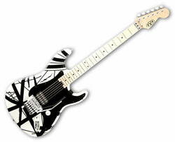Evh Striped Series Electric Guitar - White With Black Stripes Used