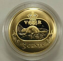 2001 3 Cents Gold-plated Silver Coin Canada Beautiful