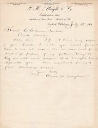 U.s. P. H. Albright And Co. Newkirk 1901 Fathers Discharge Paper Letter Ref 48909