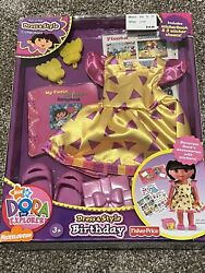 Dora The Explorer Birthday Dress amp; Style Collection New NIB Doll Clothes Outfit