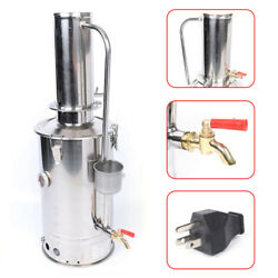 5l/h Lab Pure Water Distiller Stainless Steel Dental Home Electric Hospital