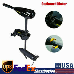 Electric Heavy Duty Outboard 408w 40lbs Trolling Motor Fish Boat Parts Engine Us