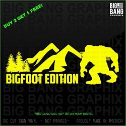 Bigfoot Edition Decal Sticker Off Road Country Fits Jeep Diesel Truck 4x4 Atv