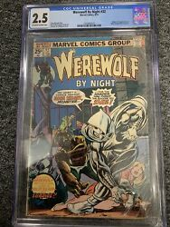 Werewolf By Night 32 Marvel Comics 1975 Cgc 2.5 1st Appearance Of Moon Knght