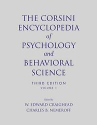 Corsini Encyclopedia Of Psychology And Behavioral Science Paperback By Craig...