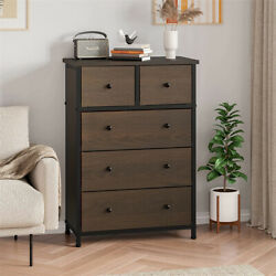 5-drawer Dresser Storage Tower With 5 Fabric Drawers Sides And Top With Metal