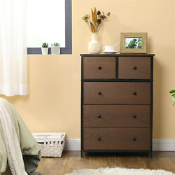 Used 5-drawer Dresser Storage Tower With 5 Fabric Drawers Sides And Top