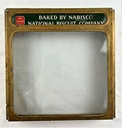 Vintage Baked By Nabisco National Biscuit Company Metal Display Case