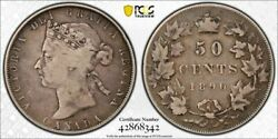 1890-h Canada 50 Cent Pcgs F12 Lotg1359 Silver Scarce Key Date
