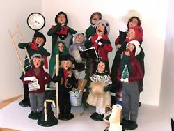 Vintage Byers Choice Carolers Hard To Find Rare Items Group Of 17