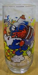 1983 Hanna-barbera Smurfs Clumsy Smurf Collector's Glass Cup