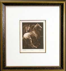 G H Rothe Herd Horses Rare Hand Signed Le Mezzotint Art Submit An Offer