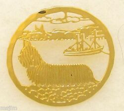 Skye Terrier Jewelry Small  Gold Pin by Touchstone