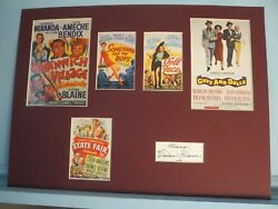 Guys And Dolls And Other Films Of Vivian Blaine And Vivian Blaine Autograph