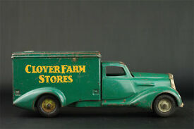 clover farm stores pressed steel toy truck