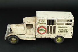 heinz pressed steel toy delivery truck 12
