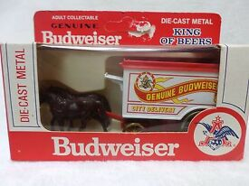 vintage budweiser beer toy horse buggy