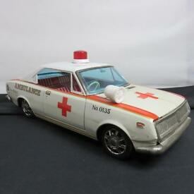 ambulance mark ii corona toyota tin litho