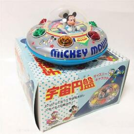 disney ufo mickey s space ship tin toy made