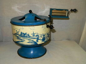 vintage lithographed steel tin childs