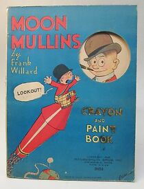 1932 moon mullins crayon and paint book by