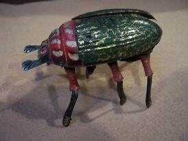 antique german wind up toy beetle marke