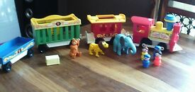 vintage fisher price circus train complete