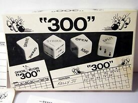 vintage 1979 300 dice bowling game from j