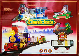 christmas classic coal train with real smoke