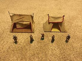 ww1 lot of 5 soldiers lead toy barclay