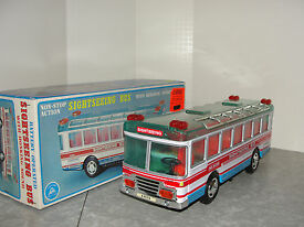 vintage japan sightseeing bus in the box