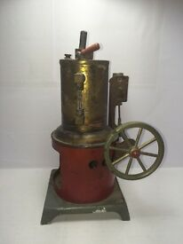 jk 203 vertical brass vintage toy steam