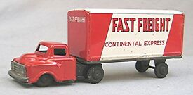 vintage tin fast freight truck japan