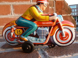 tin toy 15 friction motorcycle great